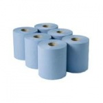 Centre Feed Rolls - Pack of 6  (Blue)